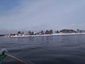 Rönnskär från havet vintern 2016